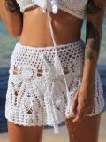 Sexy Hollow Crochet A-Line Skirt Bottom