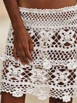 Hollow Crochet Beach Skirt Bottom