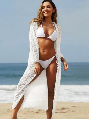 Circle Lace Vacation Beach Cover-Ups