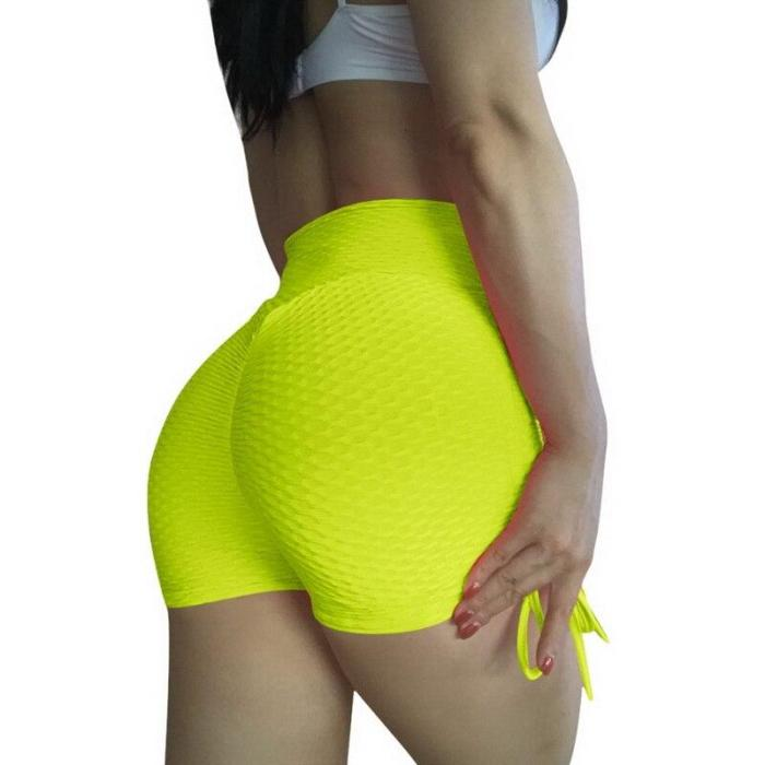 EBUYTIDE Shorts Women Sexy Push Up Fitness Short Legging High Waist Gym Running Tight Sportswear Yoga Shorts With Bows Underwear