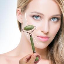 Jade Face Roller Beauty Skin Care Face Massager Gua Sha Double Head Quartz Stone Dropshipping Cellulite Massager Facial Roller
