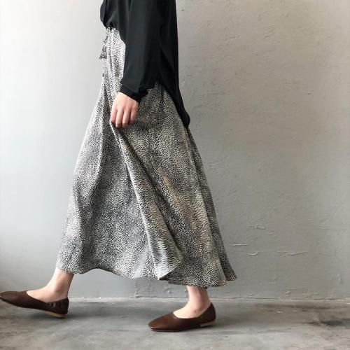 New 2020 spring summer women fashion leopard printed skirt high waist casual middle long skirts female street style clothing