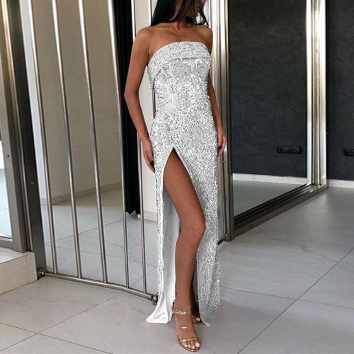 Wrapped Chest Sequined Sequin   Dress Dress
