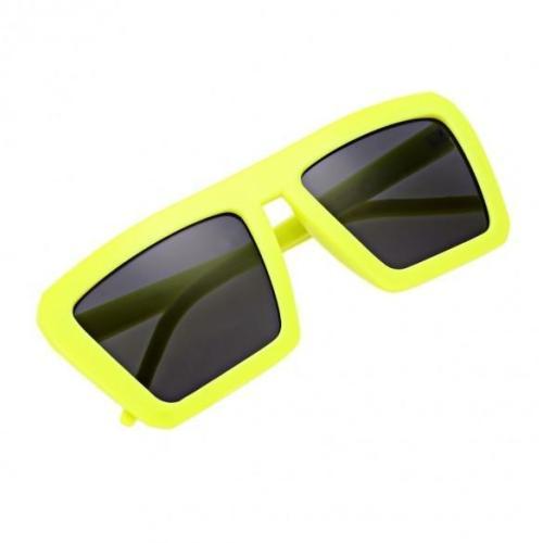 Vintage Style Unisex Square Polarized Plastic Frame Sunglasses