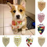 Fruit Print Dog Bandanas Pet Neck Scarf Pet Bandana For Dog Cotton Bow ties Collar Washable Dog Scarf Large Pet Dog Accessories