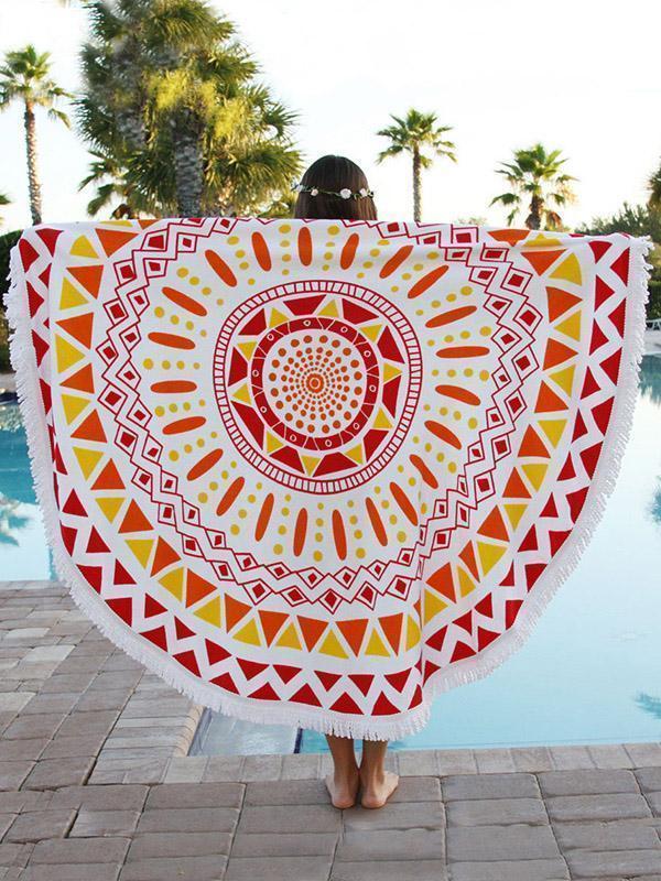 Bohemia Floral Tassels Round Beach Mat Yoga Mat