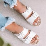 Summer Women Versatile Straw Holiday Slippers
