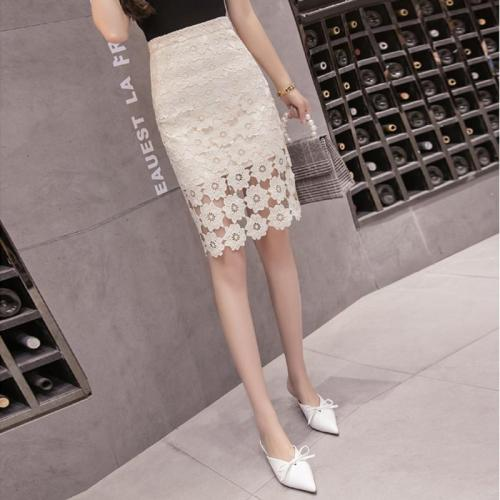 Casual High Waist Show   Thin Sexy Hollow Out Lace Skirt