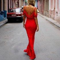 Fashion Sexy Sling One-Shoulder Slim Dress