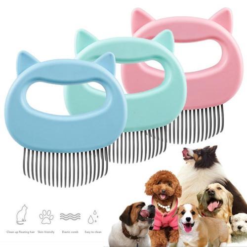 2pcs Pet Cat Dog Massage Comb Hair off Open Knot Brush Pet Shell Needle