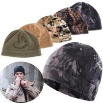 1pc Unisex Winter Warm Fleece Hats Outdoor Windproof Men Women Hiking Caps Fishing Cycling Cap Hunting Military Tactical Caps