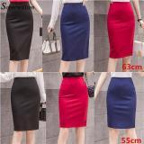 Elegant Midi Pencil Skirts High Waist For Wrok 2020 Large Size Skirt 4XL 5XL Slit Black Red elastic OL Bandage Skirts Womens