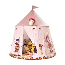 Kid Tent House Portable Princess Castle 123*116cm Present Hang Flag Children Teepee Tent Play Tent Baby Birthday Christmas Gift