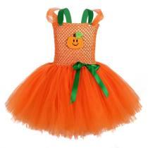 Girls Halloween Tutu Dress Costumes Toddler Pumpkin Ghosts Ball Gown Dress Children Clothing Kids Carnival Party Princess Dress