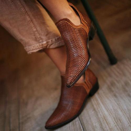 Euramerican Style Pure Color Kitten Heels Single Shoes