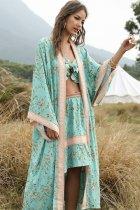 Boho Robe, Kimono Robe, Beach Cover Up, Maisie in Green