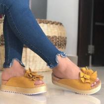 Slip-On Peep Toe Women Platforms