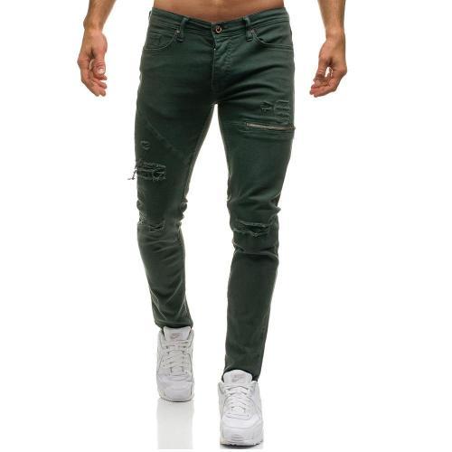 Black Men's Feet Stretch Jeans