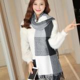 2020 Autumn Winter Female Plaid Scarf Women fashion Scarves Wide Lattices Long Shawl Wrap Blanket Warm Tippet