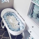 2M/3M Baby Bed Bumper Knot Cot Bumper for Newborn Knotted Braid Weaving Plush Baby Crib Protector Infant Knot Pillow Room Decor