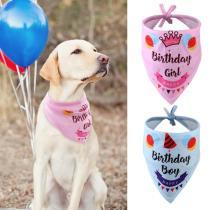 Birthday Dog Bandana Bibs Head Scarf Doggie Neckerchief Pet Cat Puppies Bandana Birthday Party Accessories for Medium Large Dogs