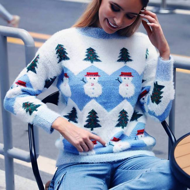 Ugly Christmas Snowman Knit Sweater