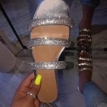 Popular Women's Rhinestone Shiny Slippers