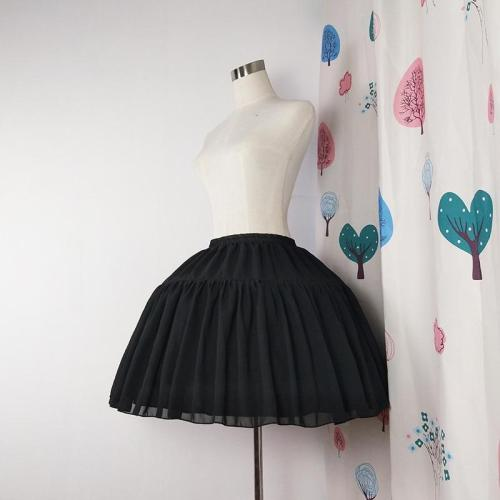 Women Short Petticoat Rockabilly Chiffon Tow Bones Lolita Petticoat Ballet Cosplay Petticoat Crinoline Underskirt