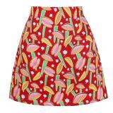 2020 Ladies Mini Skirts Womens faldas mujer moda 2019 Black Floral Print Summer Cotton Short Sexy A Line Skirts