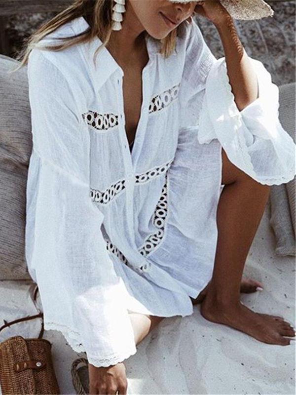 Lace Crochet Bathing Suit Bikini Swimwear Cover Up Beach Dress