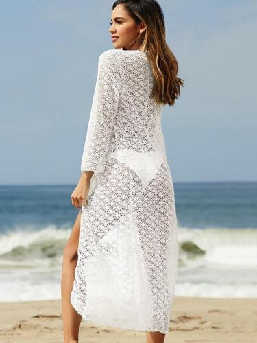 Circle Lace Vacation Beach Cover-Ups