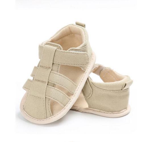 Kids Newborn Baby Boys Fashion Summer Soft Crib Shoes First Walker Anti Slip Sandals Shoe
