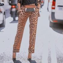 Fashion Sexy Leopard Print Suit Pants