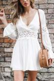 Sexy Lace Long Sleeves Mini Dress