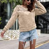 Sexy Hollow Out Long Sleeve Blouse