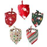 Dog Bandana Accessories Christmas Santa Claus Deer Scarf Collar Bib Grooming Triangular Bandage Collars for Small Medium Large