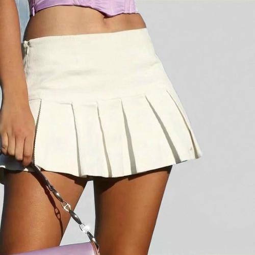 Sexy Black White Pleated Tenny Skirts Women High Waist Tennis Skorts Korean Fashion A-line skirt Summer Mini Tenis Skirt 2020
