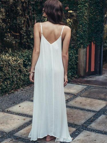 Lacy Split-side Condole Belt Maxi Dress