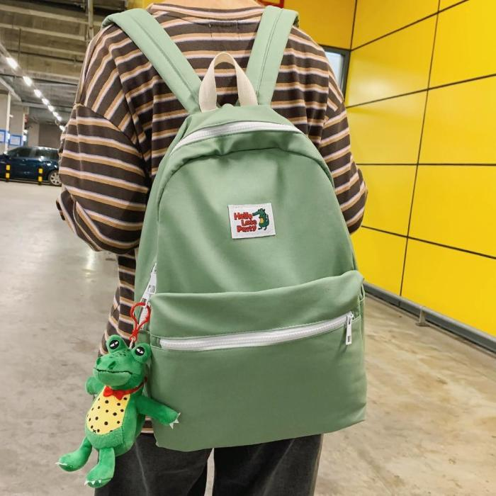 Dinosaur Ladies Kawaii Backpack Harajuku Girl Luxury School Bag Female Brand Student Cute Backpack Women Canvas Fashion Book Bag