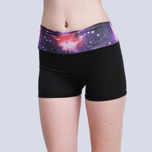 New Women Yoga Shorts Sport Patchwork Color Sportswear Tights Fitness Running Jogging Yoga Shorts Female 6 Colors