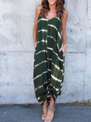 Women V Neck Beach Long Maxi Dress