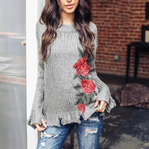 Hand Hook Print Sweater