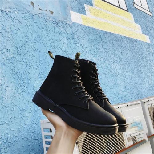 Women's fashion versatile flat boots DWQ32