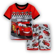 Boys Short PJ Set Cars lightning mcqueen Pattern 100% Cotton Home wear