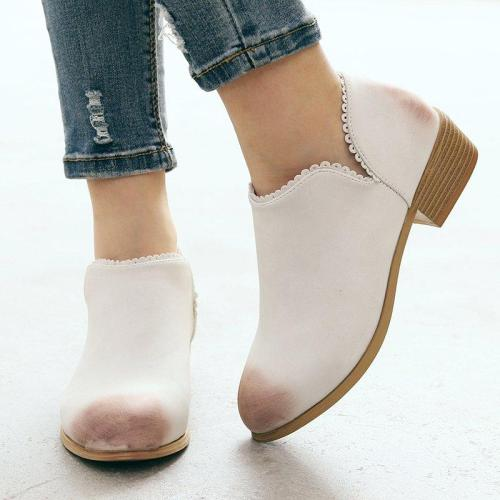 Low Heel Casual Pu Boots
