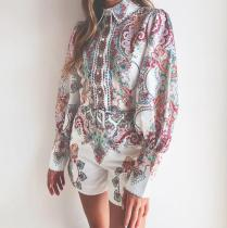 EBUYTIDE New Print Long Sleeve Jumpsuit