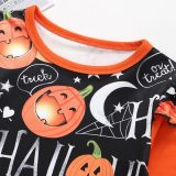girls Dress Baby Kids Dresses for Girls Clothes Long Sleeve Cartoon Halloween Print Princess Dress Costume Vestidos Robe Fille