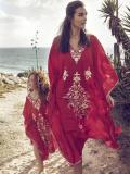 Printed Beach Kaftan Cover-up