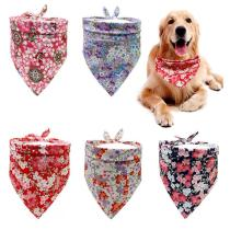 Summer Cotton Dog Cat Bandana Bibs Puppy Cat Dog Bandana/Bibs Large Dog Scarf Dog Accessories for Pet Supplies