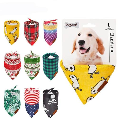 Cat Dog Bandana Bibs Scarf Collar Adjustable Pet Cute Neckerchief Scarf Waterproof Saliva Towel For Cats Dog Puppy